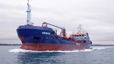 Awanuia arriving in Auckland from Singapore.jpg